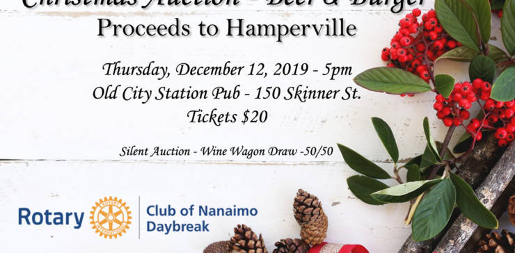 Christmas Auction – Beer & Burger Proceeds to Hamperville